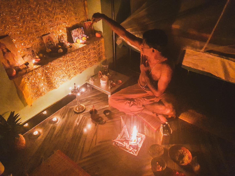 Havan, Fire Ceremony with Vijay at home