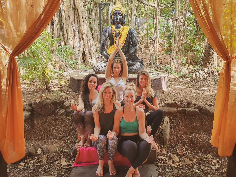 Goa, India. Divine Feminine Yoga Class, 2020