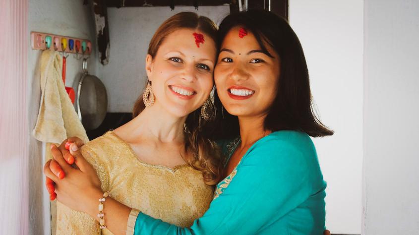 Happiness after Kanya Kumari puja, Navaratri, Nepal