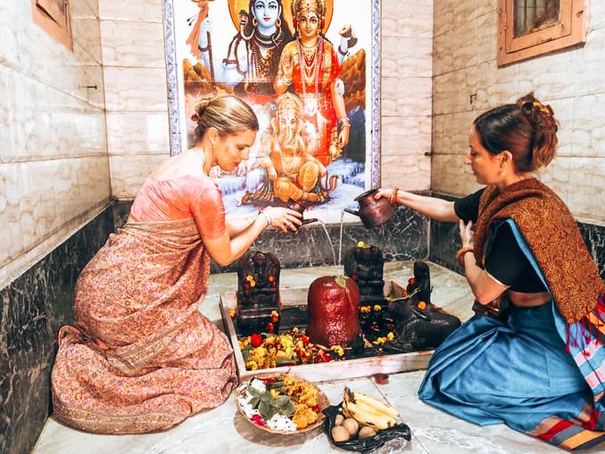 Shiva Linga Puja