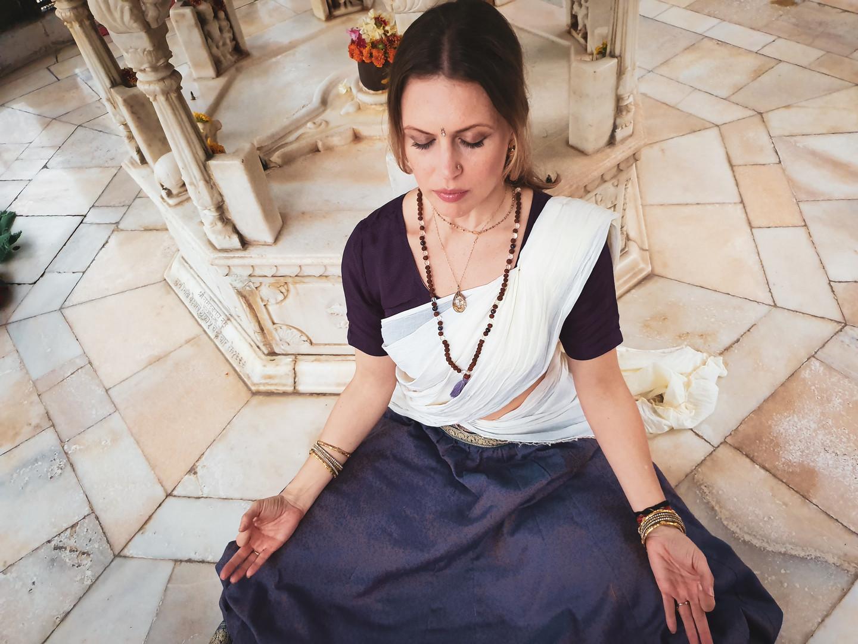 Meditation inside of Shiva temple, 2019
