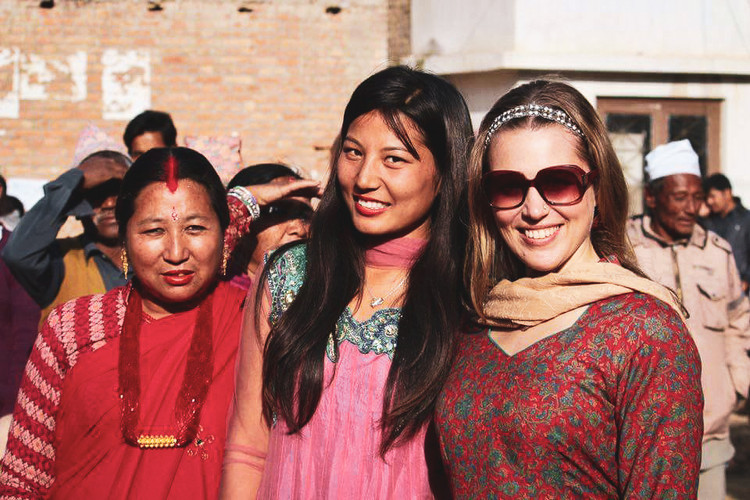 Nepali Festival day with my sister and her mom