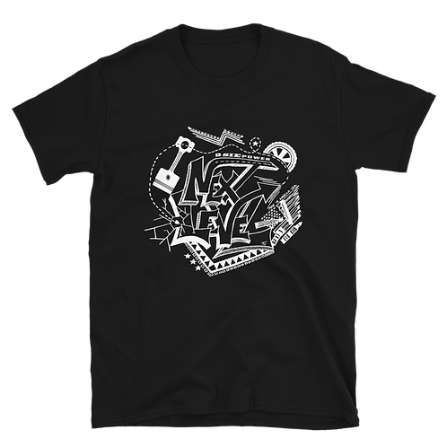 Next Level Black T-shirt (front)