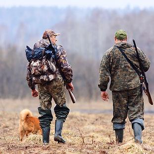 Hunters And Dog