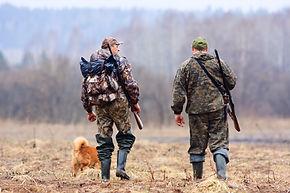 Jäger und Hund