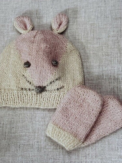 Twilleys of Stamford Knitted Mouse Hat & Mittens - incl. bag and materials
