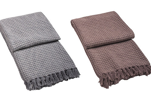 Cotton Jacquard Throw - 100% Cotton and handmade in India