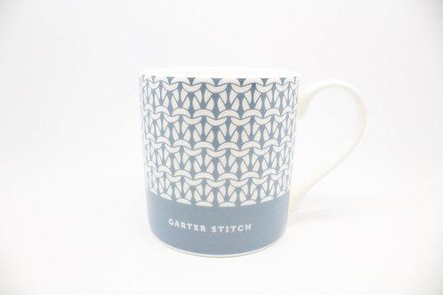 Debbie Bliss Mug with Knitting Design - Denim