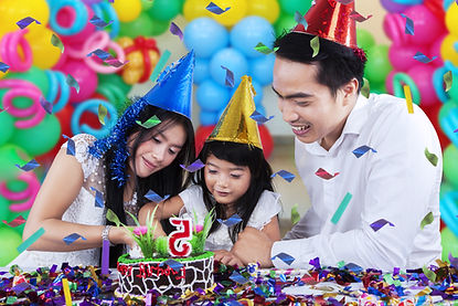 Lovely family celebrating birthday party