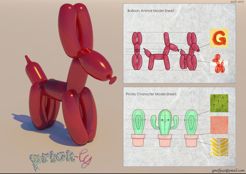 Prick-ly and Balloon Animal Art Sheets
