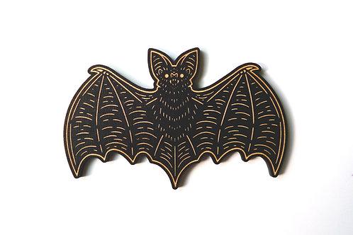 Nocturnal - Bat woodcut