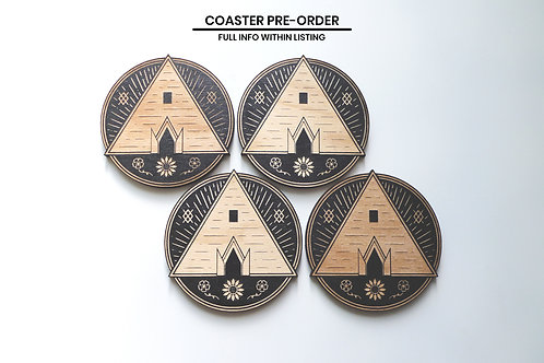 *Pre Order* The Temple - Drink coasters