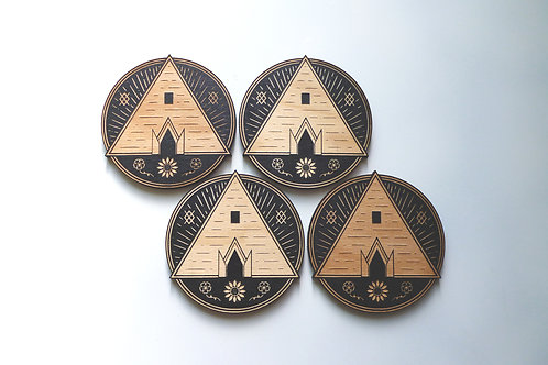 The Temple - Drink coasters