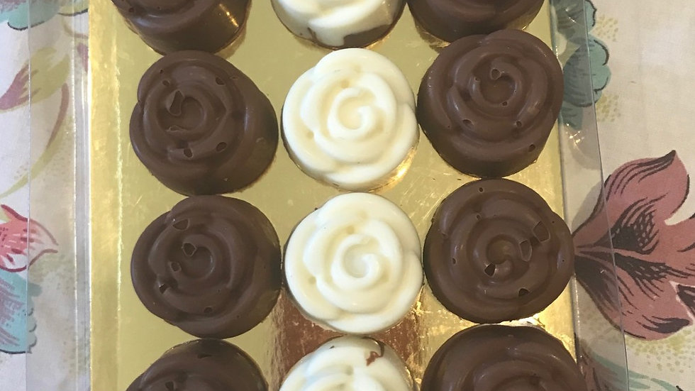 Rose Cheesecake Filled Truffles dairy