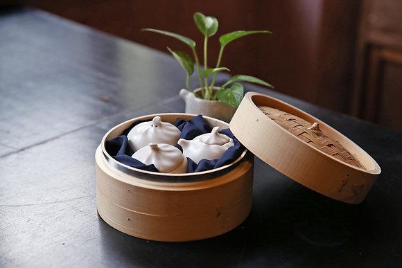小籠包調味罐組(三入+蒸籠)