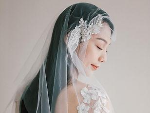 張怡梅: 法式手工珠繡頭紗輕手作