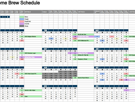 Building a Home Brew Calendar so the beer you want is ready when you want it!