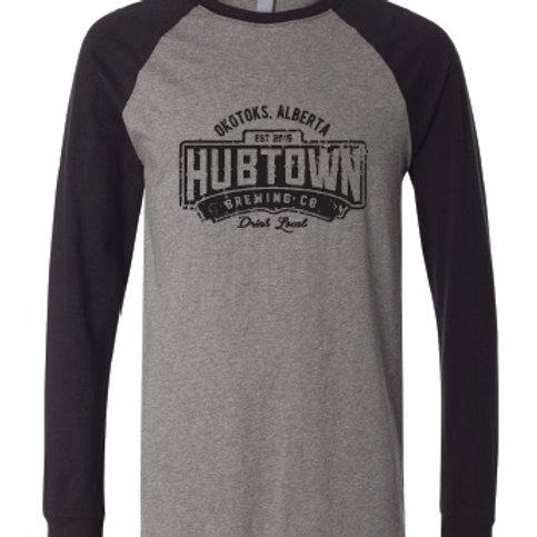 Hub Town Swag - Long Sleeve Baseball Tee