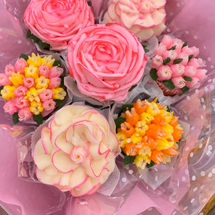 Cupcake Bouquet (7cc)-$45