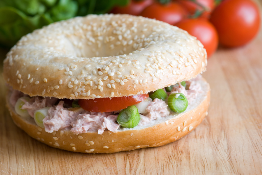 Tuna Salad on Bagel