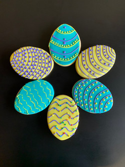 Egg shaped Easter cookie
