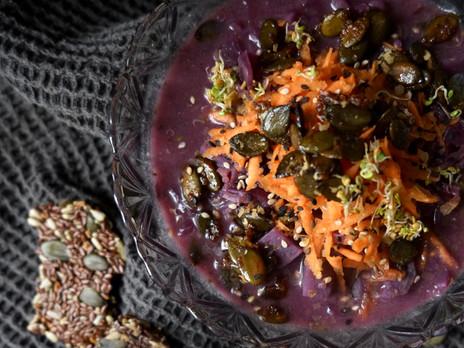 kulinarisches / deftiger, ayurvedischer krauteintopf