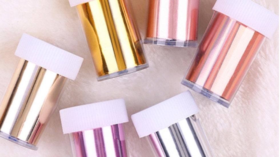 Nail Art Transfer Foil - single colours