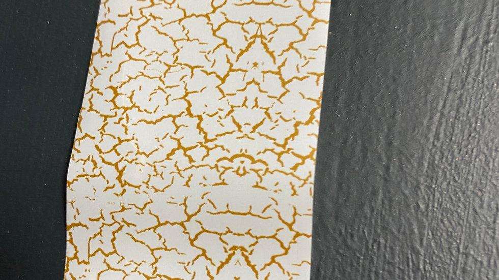 Cracked effect transfer foil