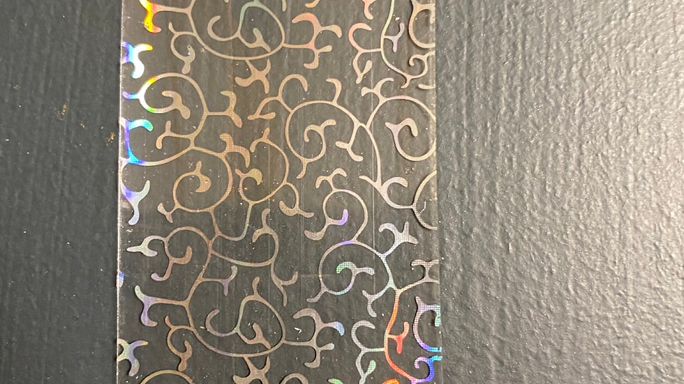 Holographic pattern on clear transfer foil
