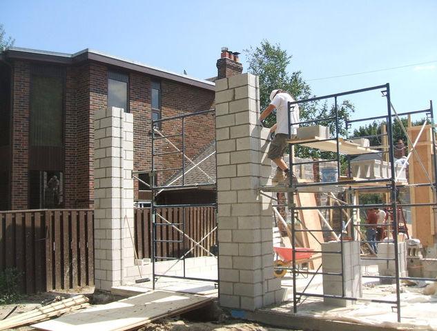 13' block columns.
