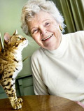 Jean Mill with her Bengal