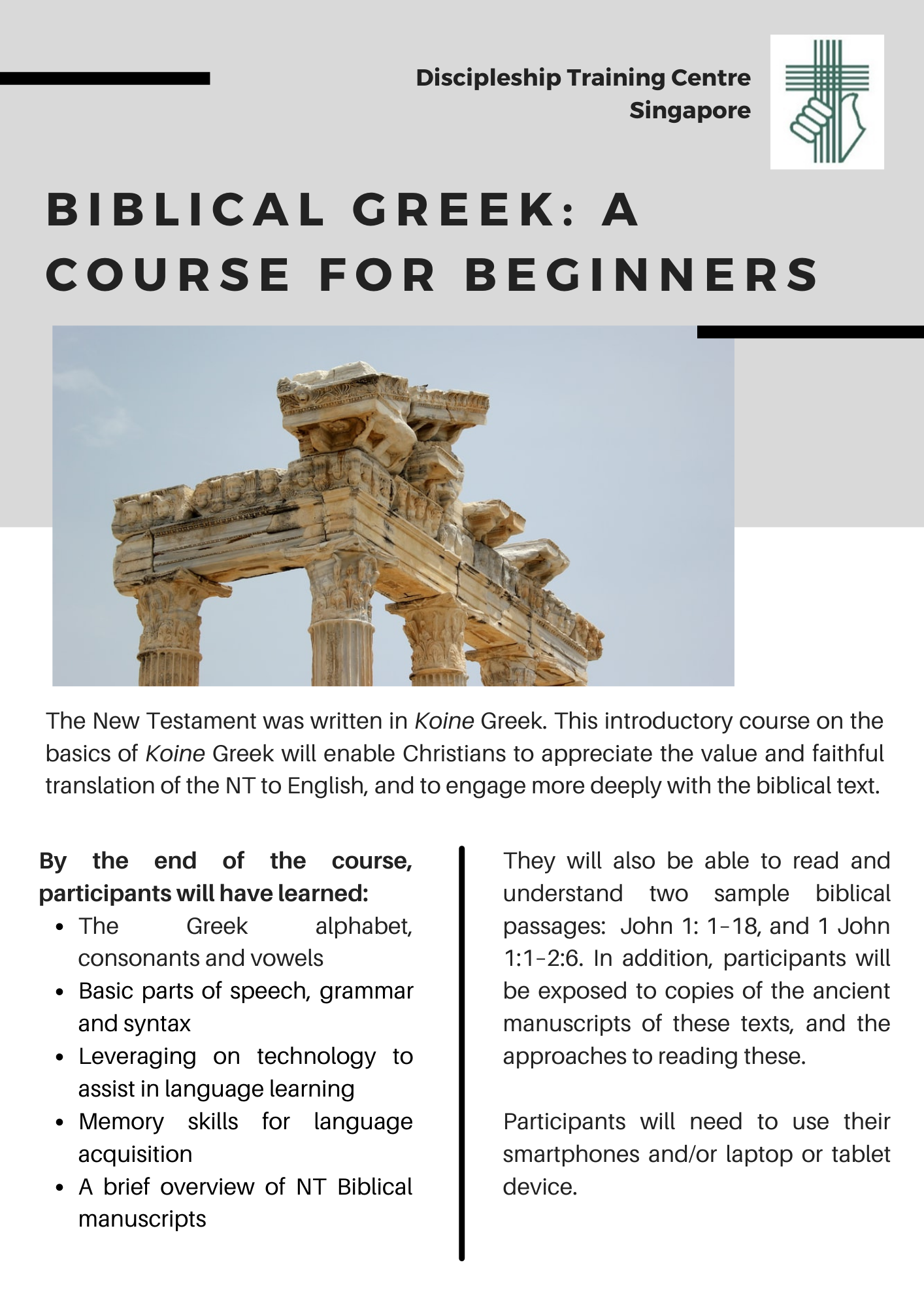 Biblical Greek: A course for beginners