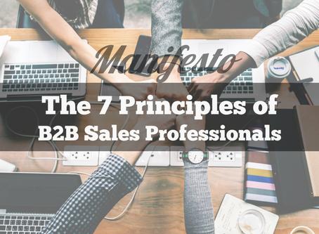 B2B Sales Manifesto