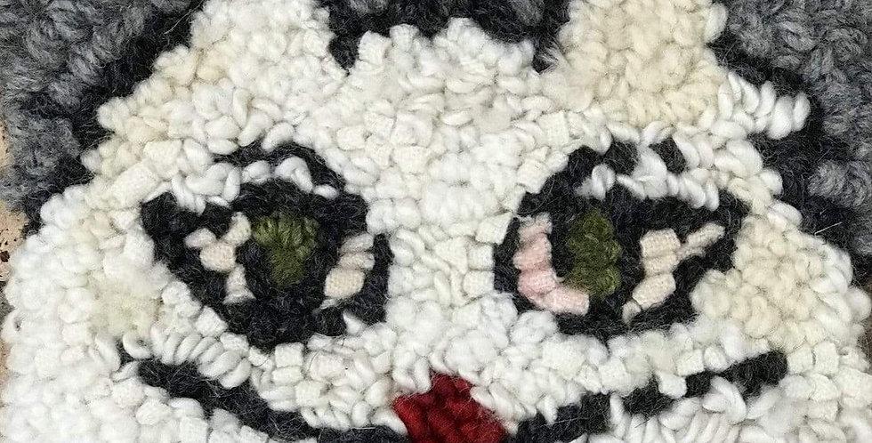 """Meow - Rug Hooking Kit 6"""" x 6"""""""