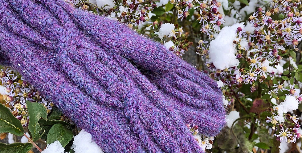 Mittens, Hand Spun, Hand Knit, Wool and Angora