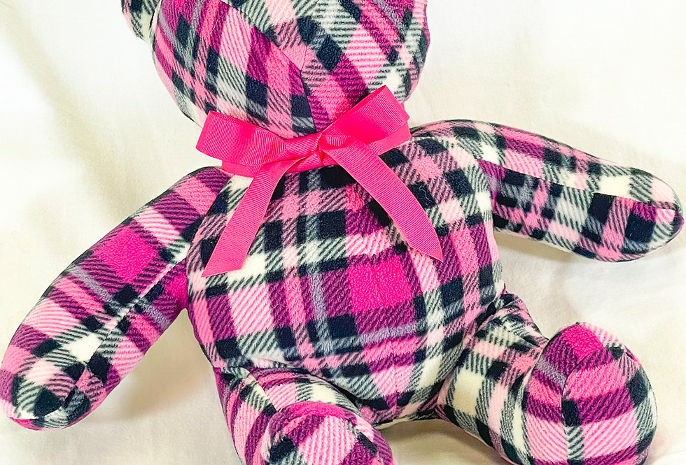 Huggabear Medium Pink Plaid