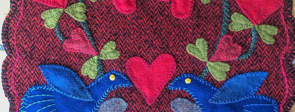 Love Birds Penny Wool Table Mat