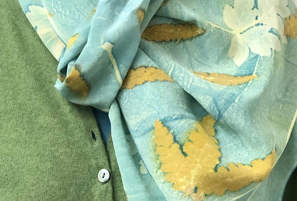 Eco Print Silk Scarf