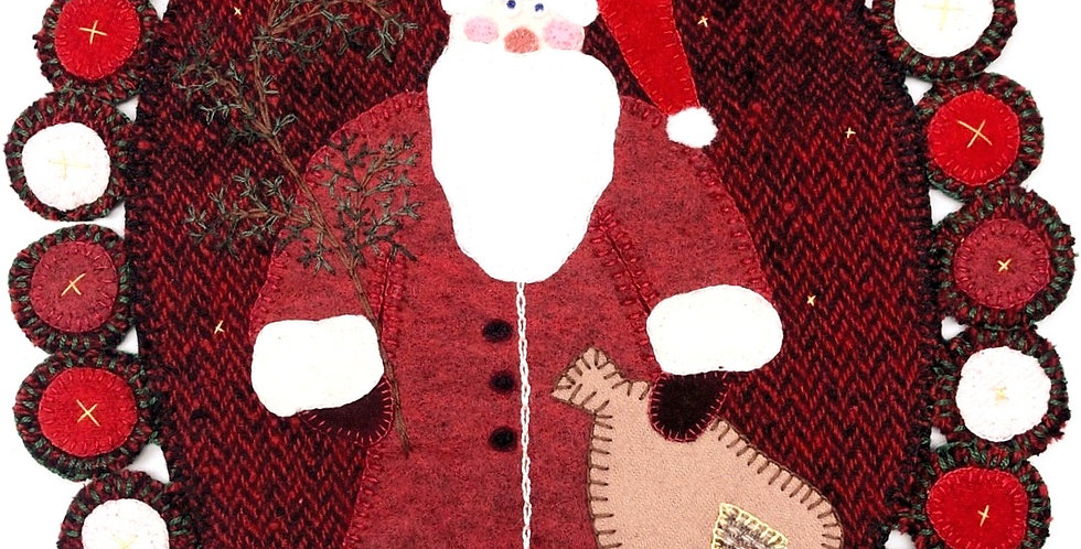 Penny Wool Santa Table Mat