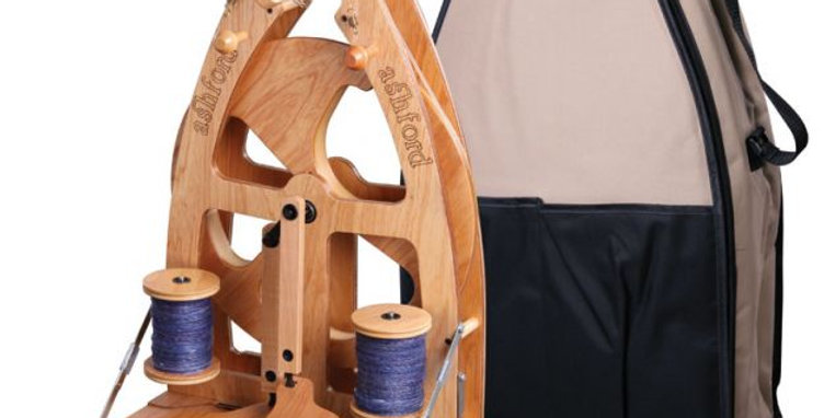 Joy Spinning Wheel 2 Double Treadle with carry bag