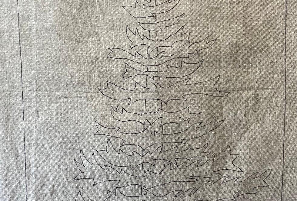 Spruce Tree Rug Hooking Pattern by Sarah Leighton