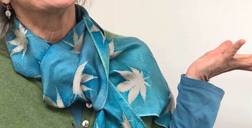 Silk Eco-printed Scarf
