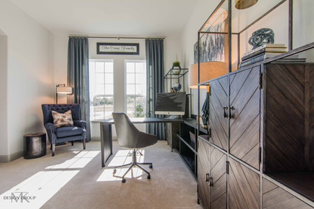 McKinney Modern Rustic Home Office Design by MTK Design Group