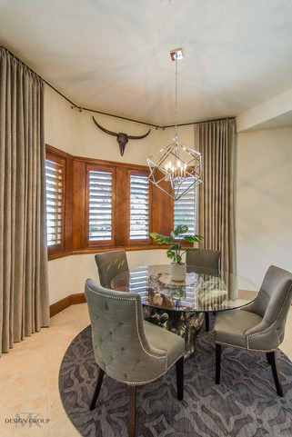 """Whole home design in Trophy Club with """"wow"""" features and a rustic glam vibe."""