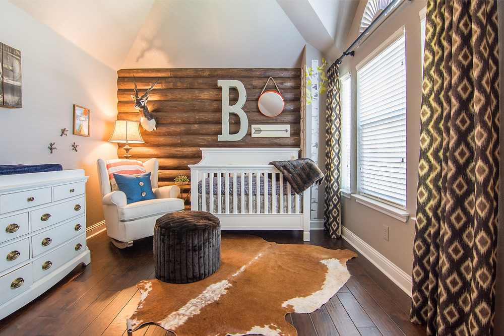 Award Finalist Rustic Nursery Design by MTK Design Group, DFW Interior Decorating Services