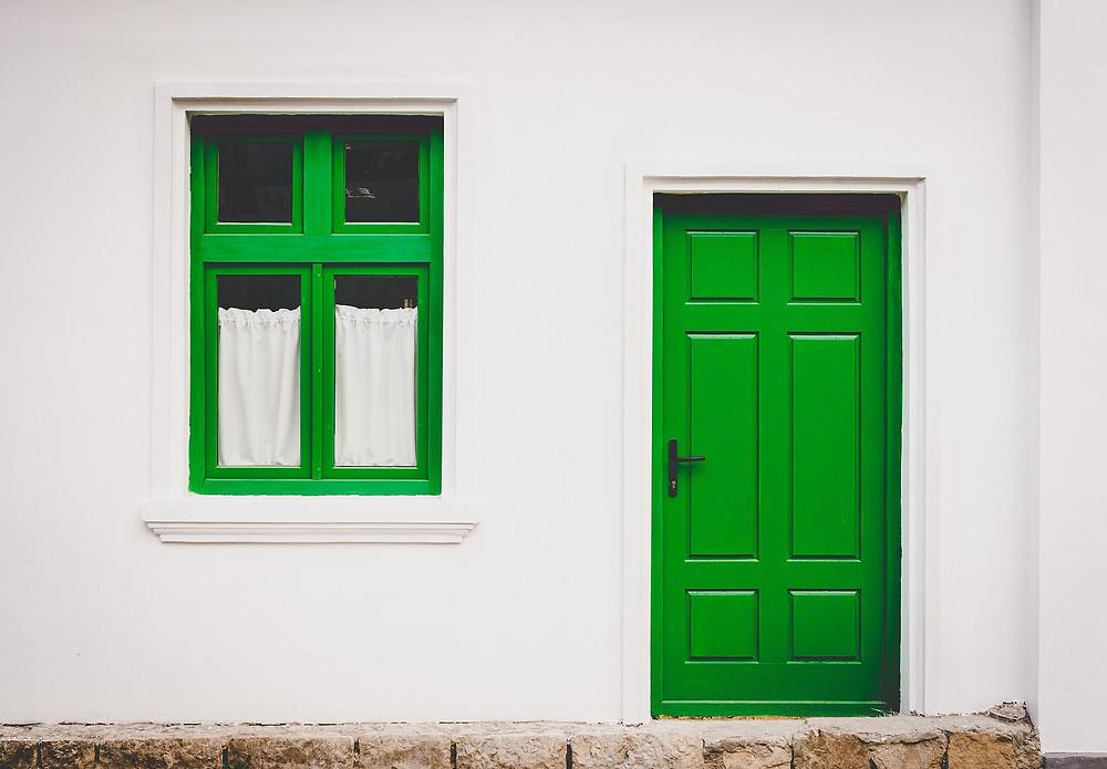 What a cool front door!