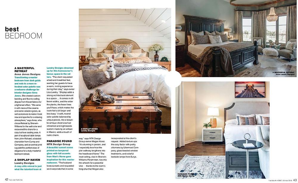 MTK Design Group Featured as Nominee in Best Bedroom