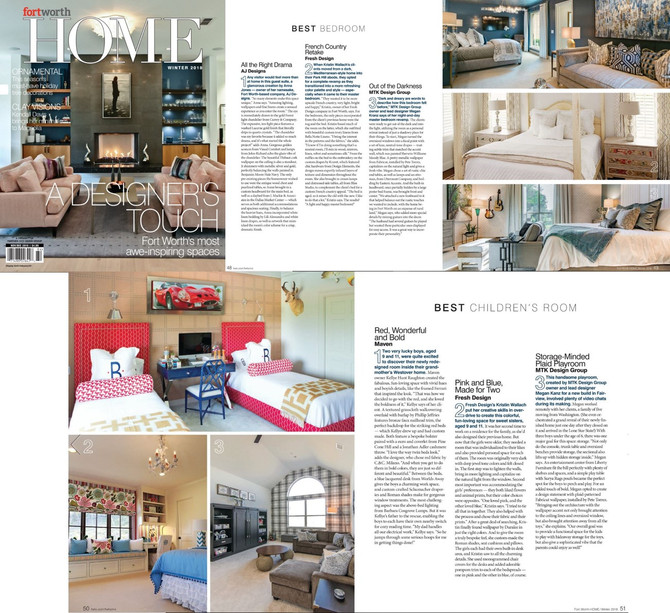 Fort Worth HOME awards MTK Design Group Best Children's Room!