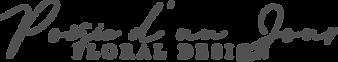 Logo French Wedding Florist Poesie d'un