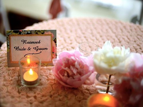'Save Me' - Bride & Groom Reserved Sign